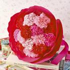 母の日 カーネーションの形をした花束「ペタロ・カーネーション メルシー」