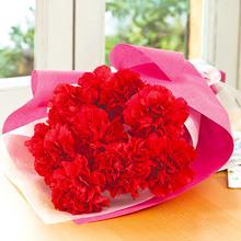 母の日 赤いカーネーションボックス「ありがとうの花」