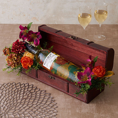 母の日 白ワイン「ブランコ・セミドゥルセ」とアーティフィシャルアレンジメントのセット