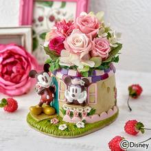 母の日 ディズニー プリザーブド&アーティフィシャルアレンジメント「ミッキー&ミニー スイートタイム」