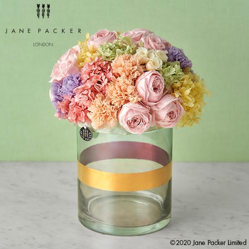 母の日 JANE PACKER プリザーブドアレンジメント「レインボー ピンク」