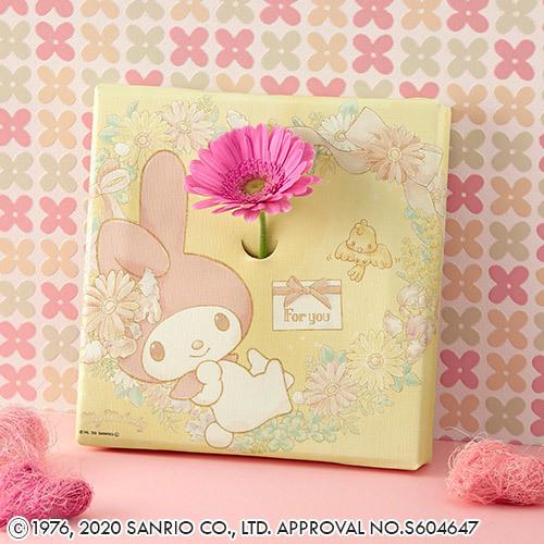 サンリオキャラクター「お花も飾れるキャンバスフレームとお花のセット(マイメロディ)」