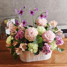 O・SO・NA・E flower 「4月のウッドボックスアレンジメント」