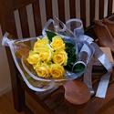父の日 花束「イエローローズ」