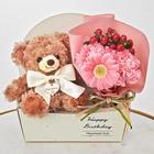 「6月のバースデーベア」と花束のセット