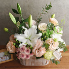 O・SO・NA・E flower 「6月のウッドボックスアレンジメント」