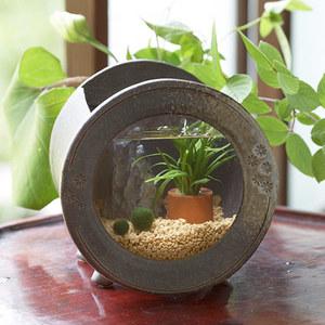 アクアプランツ「信楽焼き水槽・丸」の商品画像