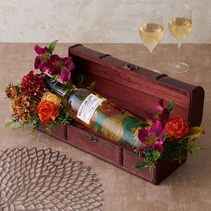 白ワイン「ブランコ・セミドゥルセ」とアーティフィシャルアレンジメントのセットの商品画像