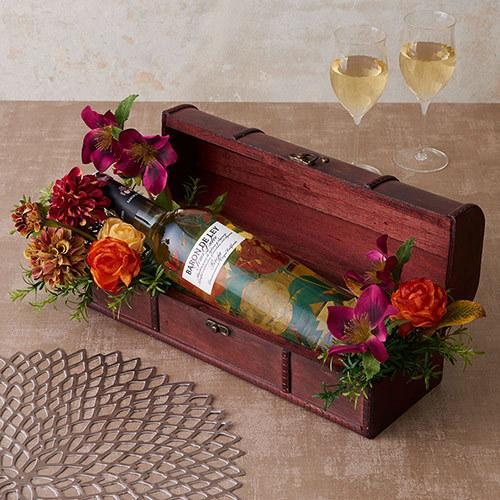 白ワイン「ブランコ・セミドゥルセ」とアーティフィシャルアレンジメントのセット