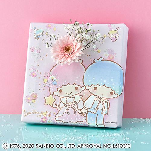 サンリオキャラクター「お花も飾れるキャンバスフレームとお花のセット(リトルツインスターズ)」