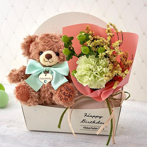 【日比谷花壇】「8月のバースデーベア」とブーケのセット (その他) | 母の日プレゼント