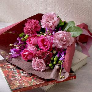 8月の旬の花 花束「オーブ」の商品画像