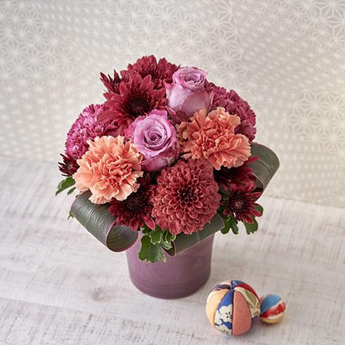 9月の旬の花 アレンジメント「菊華」