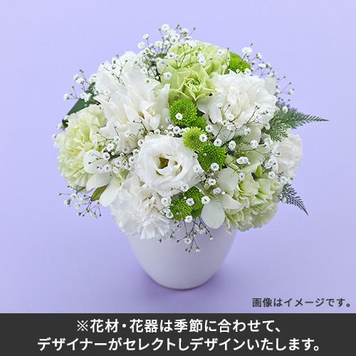 【おまかせシリーズ】お供え用ホワイト系アレンジメント