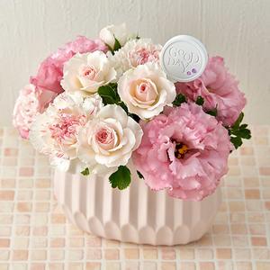 10月の誕生石モチーフアレンジメント「ピンクオパール」の商品画像