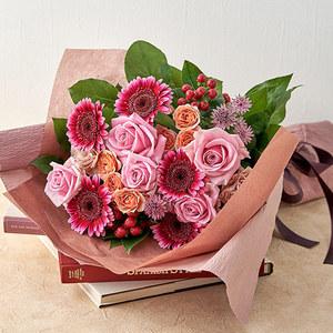 10月の旬の花 花束「マルーン」の商品画像