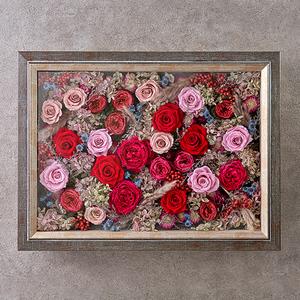 デザイナーズフレームアート「ブルーミングローズ」の商品画像