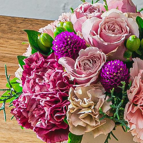 11月12月の旬の花 アレンジメント「フリルピンク」