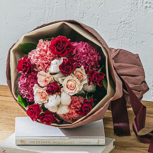 11月12月の旬の花 花束「ラネージュ」