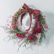クリスマス プリザーブド&ドライフラワーリース「リース ド ルージュ」
