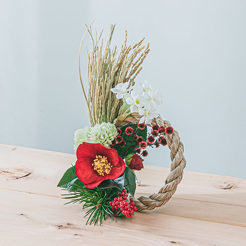 お正月 置き型しめ飾り「迎春」