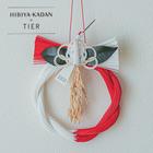 TIER【迎春かざり】紅白 さざんか鶴リース