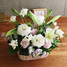【お供え用】 O・SO・NA・E flower 「1月のウッドボックスアレンジメント」