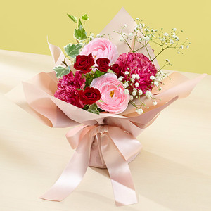 そのまま飾れるブーケ「2月に贈る花言葉」