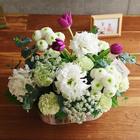 【お供え用】 O・SO・NA・E flower 「2月のウッドボックスアレンジメント」