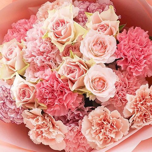 母の日 花の形をした花束「シュクレ」