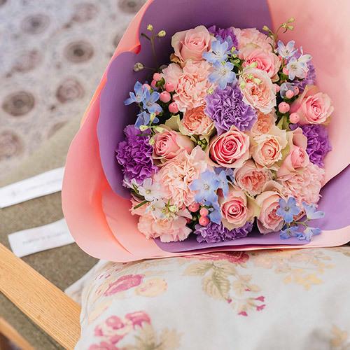 母の日 デザイナーズ・花の形をした花束「ジェンティーレ」