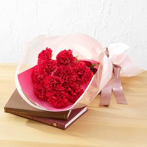 母の日 赤いカーネーションの花束「ありがとうの花」