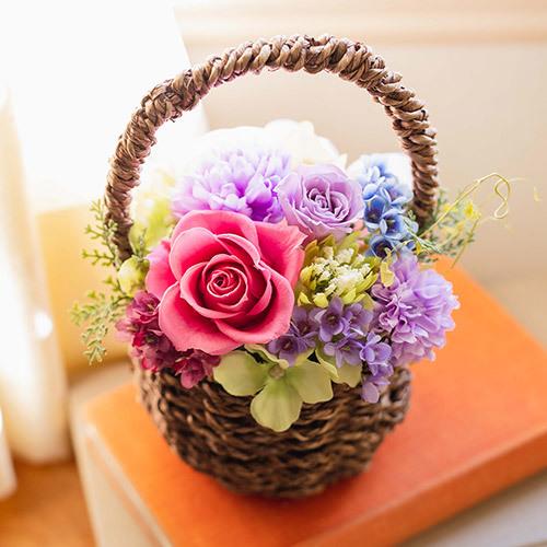 【日比谷花壇】母の日 プリザーブド&アーティフィシャルアレンジメント「プチ ジャルダン」
