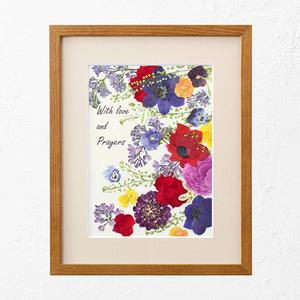 母の日 押し花フレームアート 「Colors that bloom -咲く色-」の商品画像