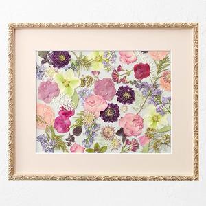 母の日 デザイナーズ押し花フレームアート 「ローズエレガンテ」の商品画像