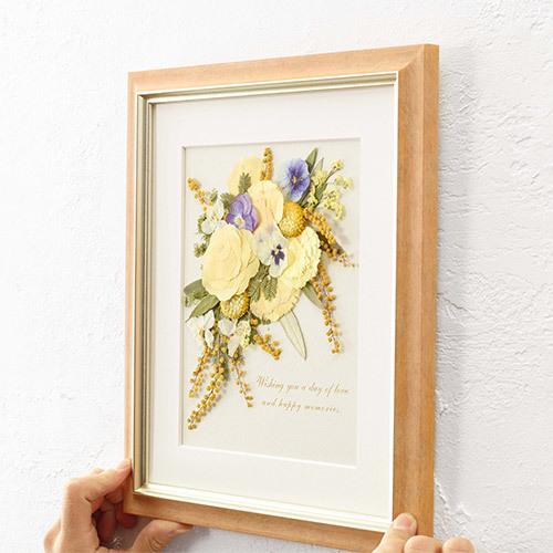 母の日 押し花フレームアート 「Joie-ジョワ-」