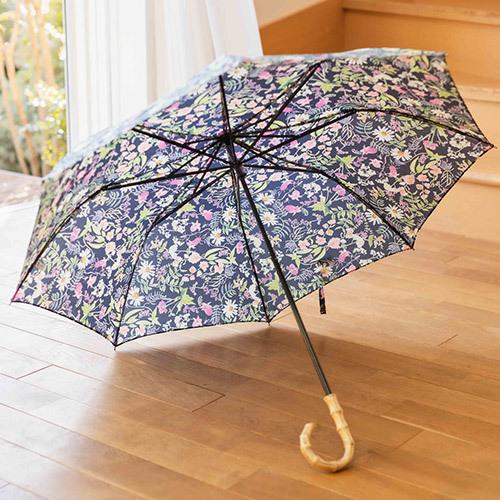 母の日 リバティプリント「日傘(晴雨兼用)」とそのまま飾れるブーケのセット