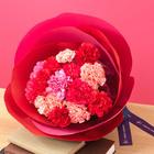 母の日 花の形をした花束「カーネーション メルシー」