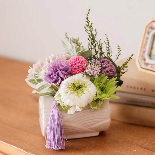 【お供え用】亡き母に贈るプリザーブド&アーティフィシャルアレンジメント