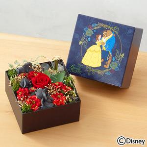 母の日 ディズニー オルゴールフラワー「Beauty and the Beast」(ディズニー映画 『美女と野獣』より)