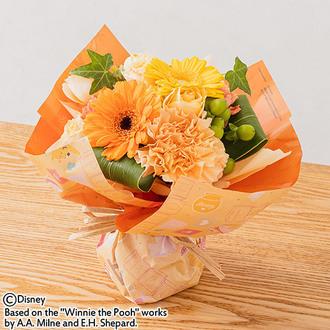 母の日 ディズニー そのまま飾れるブーケ「オレンジリウール」(くまのプーさん)