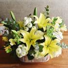 【お供え用】 O・SO・NA・E flower 「5月のウッドボックスアレンジメント」
