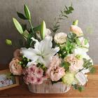 【お供え用】 O・SO・NA・E flower 「6月のウッドボックスアレンジメント」