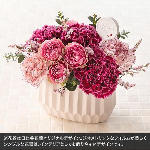 7月の誕生石モチーフアレンジメント「ロゼルビー」