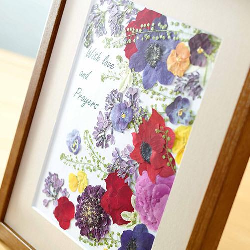 押し花フレームアート 「Colors that bloom -咲く色-」