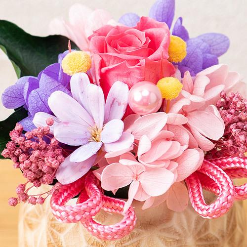 プリザーブドアレンジメント「花てまり」