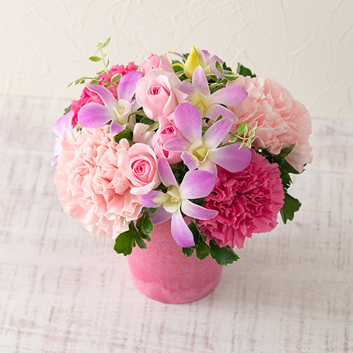 8月の旬の花 アレンジメント「マリークレール」
