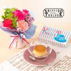 敬老の日 資生堂パーラー「プリン詰合せ(2個入)」とそのまま飾れるブーケのセット