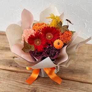 そのまま飾れるブーケ「10月に贈る花言葉」