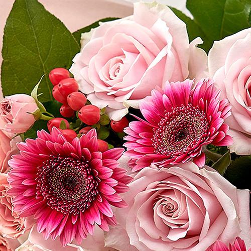 10月の旬の花 花束「マルーン」